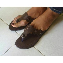 African leather sandals