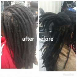 Dreadlocks wash and twist