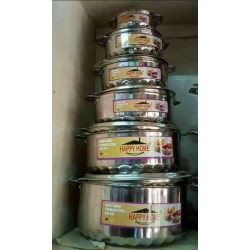 6 pcs stainless steel hotpots