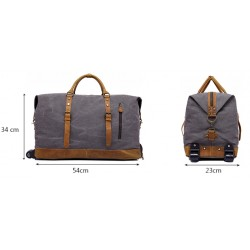 Canvas travel bags with trolleys