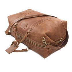 Top grain leather travel bag
