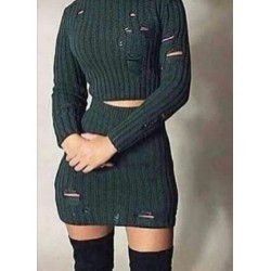 Woolen Skirt and top two piece