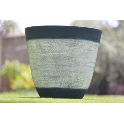 Lorimar black and white flower vase