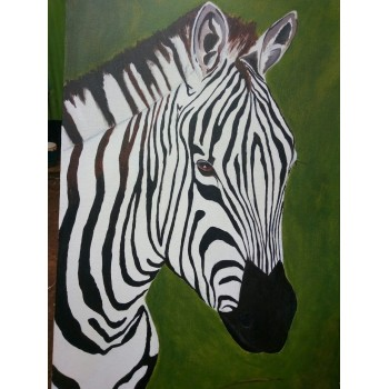 Modern Painting Wall Art on Canvas Animal Zebra