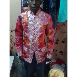 African Batik Embroidery Shirt