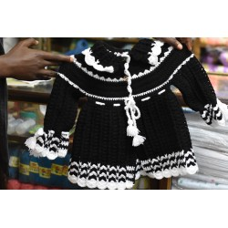 Knitted Baby Sweater Dress