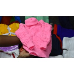Pink Knitted Baby Sweater