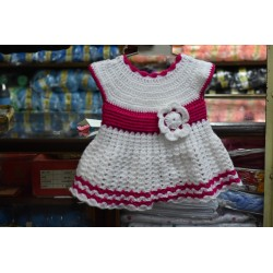 Knitted Sleeveless Baby Sweater Dress