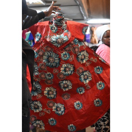 Ankara Dera Embroidery Dress