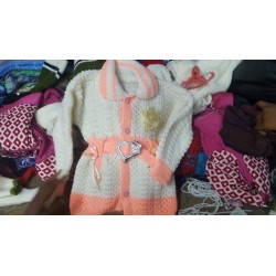 Peach Knitted kids sweater