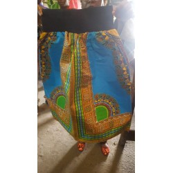 Blue large kitenge skater skirt