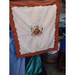 Brown Embroidery Table and Chair Cloth