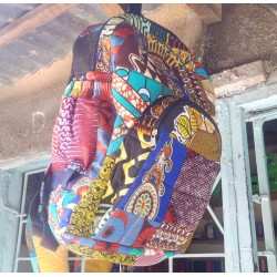 Kitenge Patch Backpack