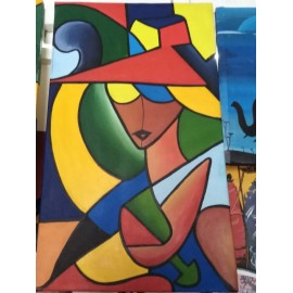 Abstract (Woman) Canvas Wall Art Decor