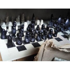 Hand Carved Soapstone Animal Chess Set