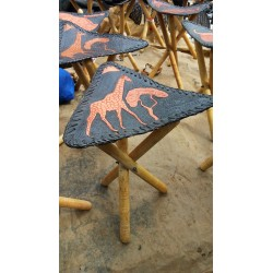 African Leather Stool