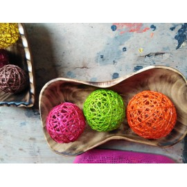 Rounded Raffia Decorations