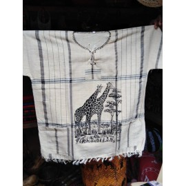 African Hand Woven Animal Print Men Shirt