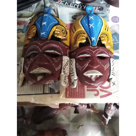 Hand Carved Wooden Wall Mask