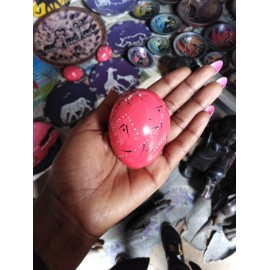 Hand-crafted African  Soap Stone Decorative Eggs