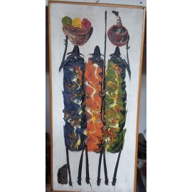 Knife Painting of  Masai Woman