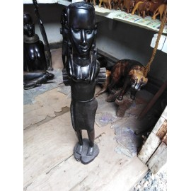 Ebony Maasai Woman Sculpture