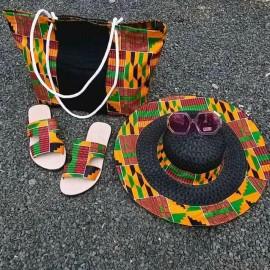 AFRICAN BAGS WITH SANDALS