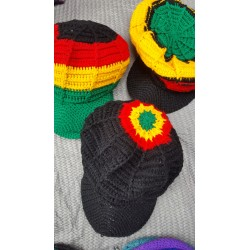 Rasta Wool Knit Brim Hat