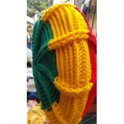 Rasta Wool Knit Brim Hat(large)