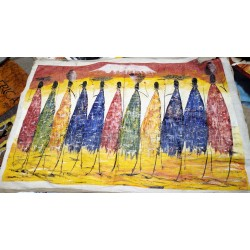 Knife Painting of Maasai Women