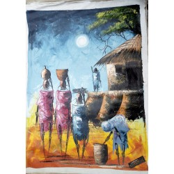 Knife Painting of Traditional Kikuyu Women