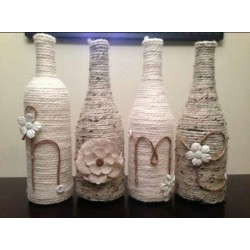 Yarn Deco Bottles